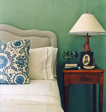 'Green Blue' by Farrow & Ball: Bedroom designed by Annsley McAleer by xJavierx.