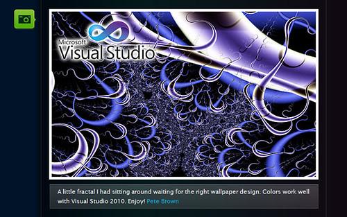 moving desktop backgrounds for windows. Windows 7 Visual Studio 2010