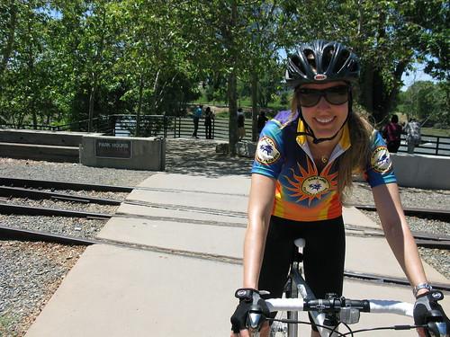 Raquel on the American River Trail
