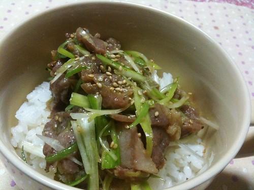 #jisui サクッとチャーシュー丼!これヒット!美味い!