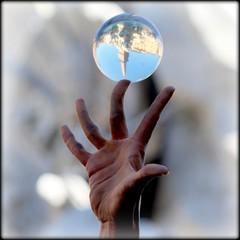 Crystal Ball (mario bellavite) Tags: roma shot best explore piazza reflexions navona mariobellavite