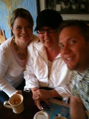 Brandie Kajino Krista Colvin and Dale Chumbley at Caffe Piccolo Paradiso