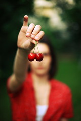 my cherry (Gjorgji Orovcanec) Tags: summer art girl face canon mouth cherry photography eos 50mm hand eating arts macedonia 5d skopje macedonian gjorgji macedonianphotographers orovcanec