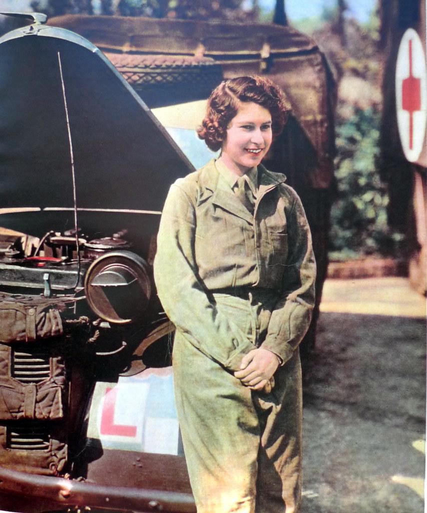 Princess Elizabeth during the WW2