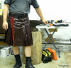 Leather Kilt - Burgundy