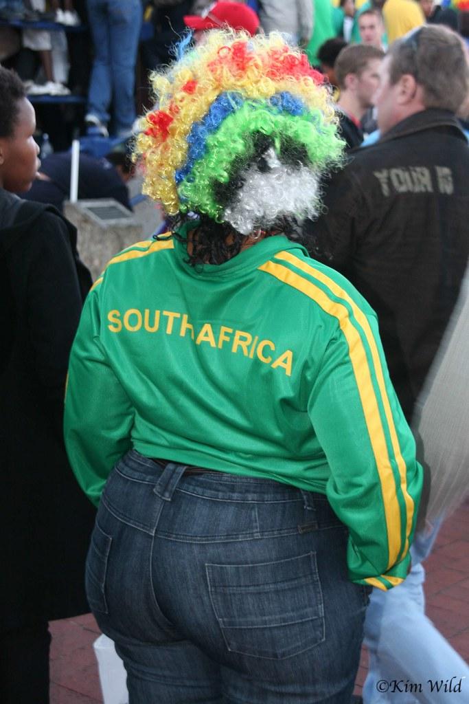 Mundial Sudáfrica hinchas freak gorda