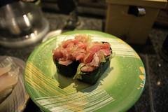 Negitoro, maybe (ycatbus) Tags: japan sushi yokohama tuna kanagawa toro maguro negi kaiten cial