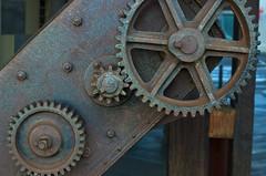 Crane gears? (Andy Burton Oz) Tags: color colour building heritage water ferry port iron industrial crane sydney australia wharf nsw cogs gears sydneyharbour hoist builtenvironment portjackson dawespoint afnikkor50mmf18d nikond40 walshbaywharves vividsydney aperture214