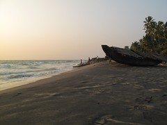 Dusk at Black beach, Varkala
