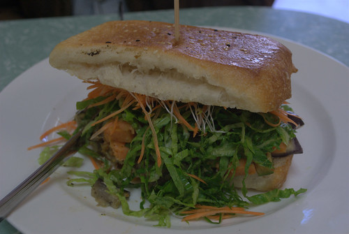 Roasted Veggie sandwich at Bliss Organic Cafe