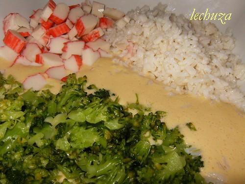 Fritos brecol y arroz-mezclar