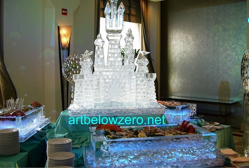 Seafood Ice Trays & Castle ice sculpture