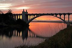 Bridge Sunset (Grace Alone) Tags: bridge sunset beach oregon gold sony a850 platinumpeaceaward