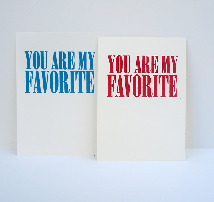 you are my favorite mini print - red and blue