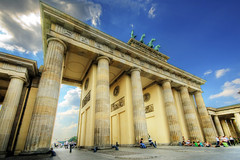 Brandenburg Gate in the day