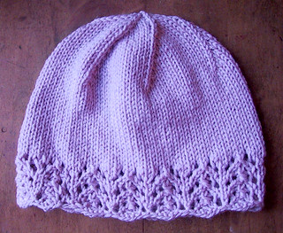 Knitting Pattern For Lace Baby Hat : Ravelry: Lace-Edged Womens Hat pattern by Julie Hentz