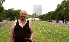 Semper Fi, Mike (crossmage) Tags: park people afghanistan mike marine memorial war texas peace flag iraq houston nl veteran memorialday hermann flagmemorial flagmemorialforallthecasualtiesoftheiraqandafghanistanwars