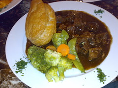 Steak and Ale pie at The Stair Arms Hotel and Restaurant just outside of Edinburgh