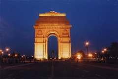 India gate, illuminated : Delhi