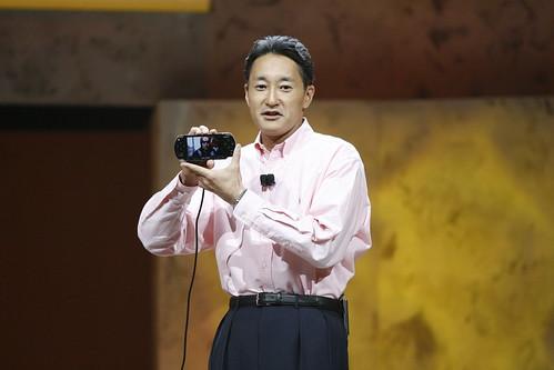 Kaz demonstrating the new PSP