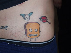 Dino's Mr Toast tattoo