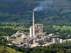 Cement factory in Derbyshire, UK, by Roger B.