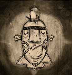 Mr. Black / CMYK Gang series1 (Alberto+Cerriteo) Tags: art texture illustration painting character alberto cerriteo gallery2c