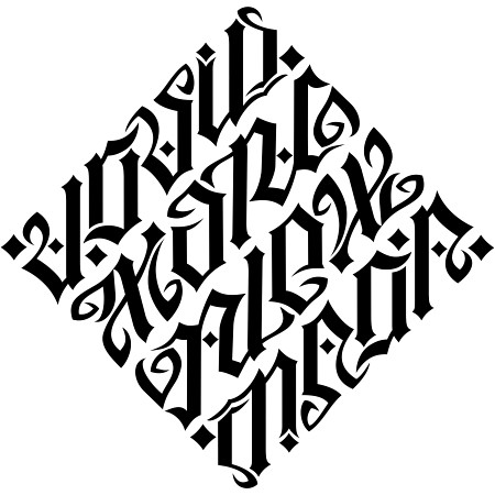 created for a tattoo design More information on custom ambigrams can be