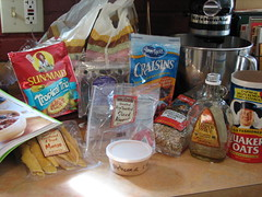 Maple Almond Granola Ingredients
