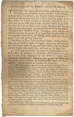 Post office regulations, 1740 (P&KC Archive) Tags: scotland carriage letters postoffice perth printing archives publishing packets ecsochistory workingarchive