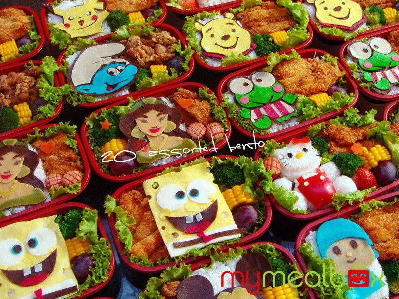 20 assorted bento boxes