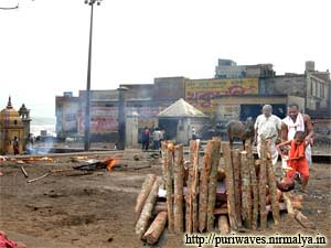 A Cremation seen at Swargadwar Puri.