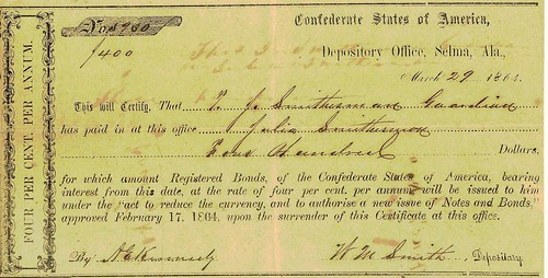 Confederate Interim Depository Receipt