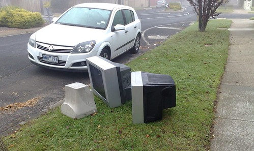 CRT televisions dumped on the nature strip