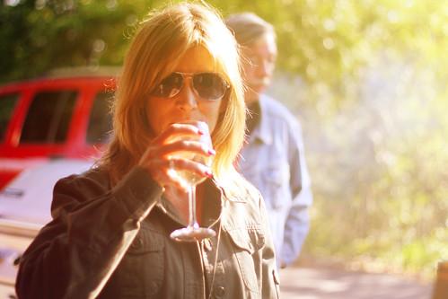 Jen with wine