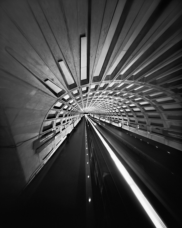 The DC Underground (4x5 Pinhole Photograph)