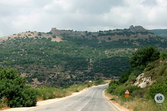 Ruine einer Kreuzritterburg, Golanhöhen