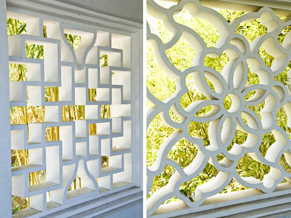 Open window designs in the Chinese Gardens