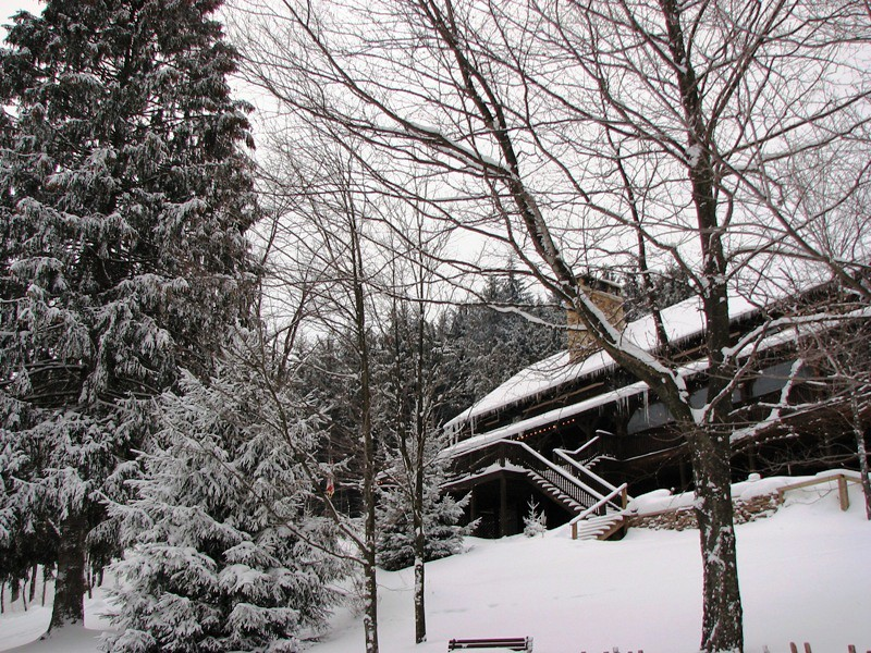 Main Lodge in snow