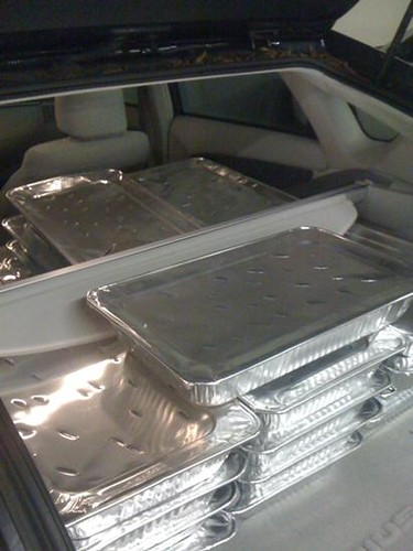 Starry Kitchen all loaded up in the car for DineLA!