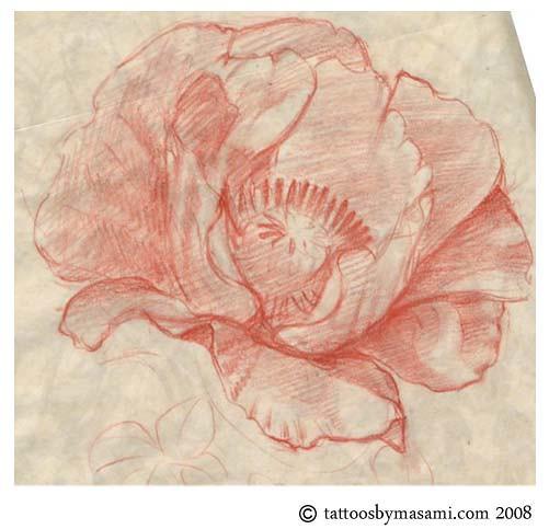 poppy-tattoo-sketch