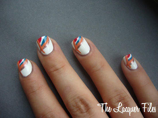 Nail Art Design World Cup 2010 Netherlands Stripers