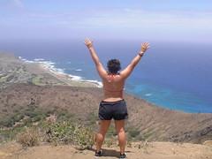 Hiking Koko Head (ChicanaFeliz) Tags: tony kokohead