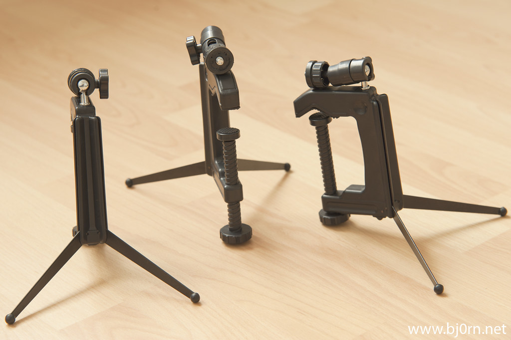 foto: Bjørn Christiansen, C-Clamp Mini Tripod for Compact Digital Camera and Flash