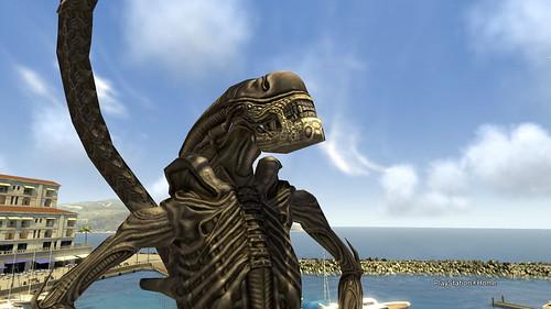 Xenomorph Enjoying Sea Air - PlayStation®Home