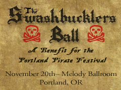 Win Tickets: Swashbuckler's Ball This Saturday | Portland Pirate Festival Benefit