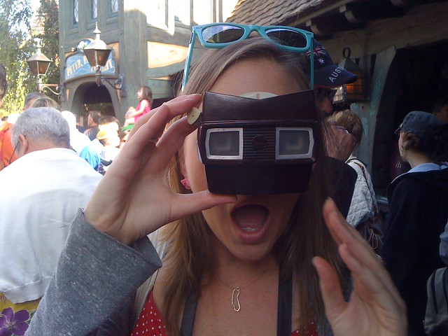 Our tour guide, Alan Hess, brought an original ViewMaster with photos of Disneyland from *opening day*!