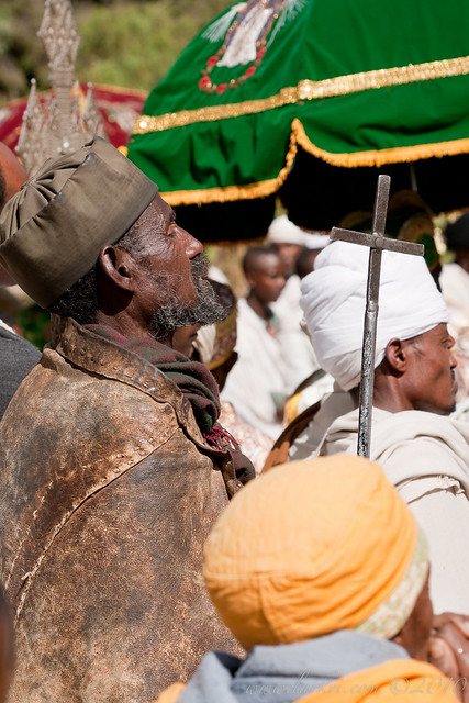Hermit, Festival of Maryam Tsion, Axum, Ethiopia, 2009