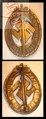 Pre WW2 German 1932 round brown Badge or Medal w sword (ratratan_valley) Tags: germany coburg nazi hitler swastika third reich nskk