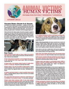 Kinship Circle - Factsheet - Animal Victims Human Victims